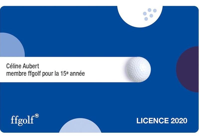 Licence de golf 2020